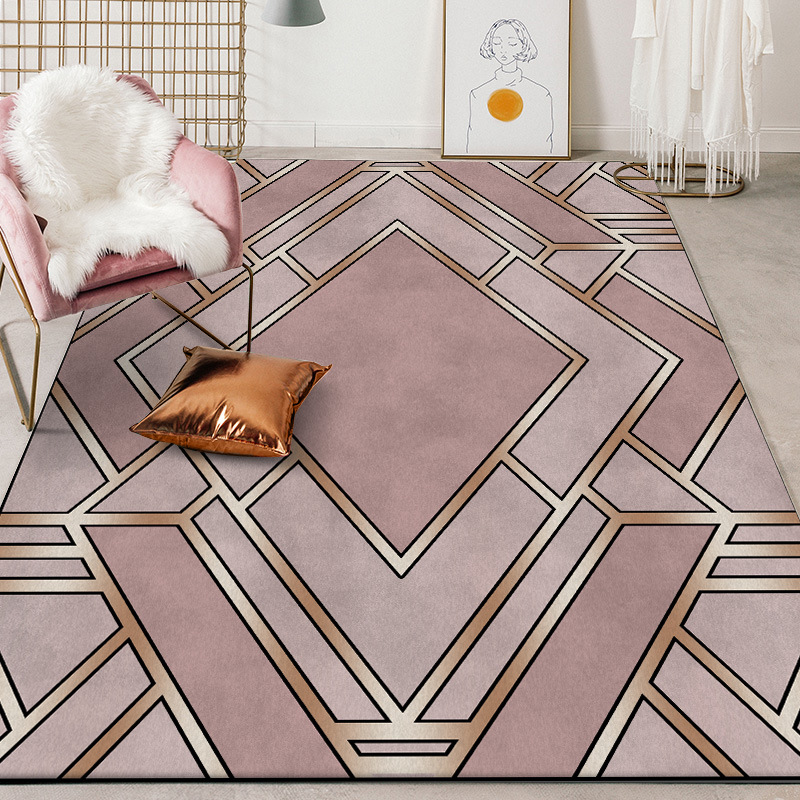 customize industrial heavy metal rug Digital printing Crystal fleece Non slip crawling mat Living room carpet bedroom floor mat in Carpet from Home Garden