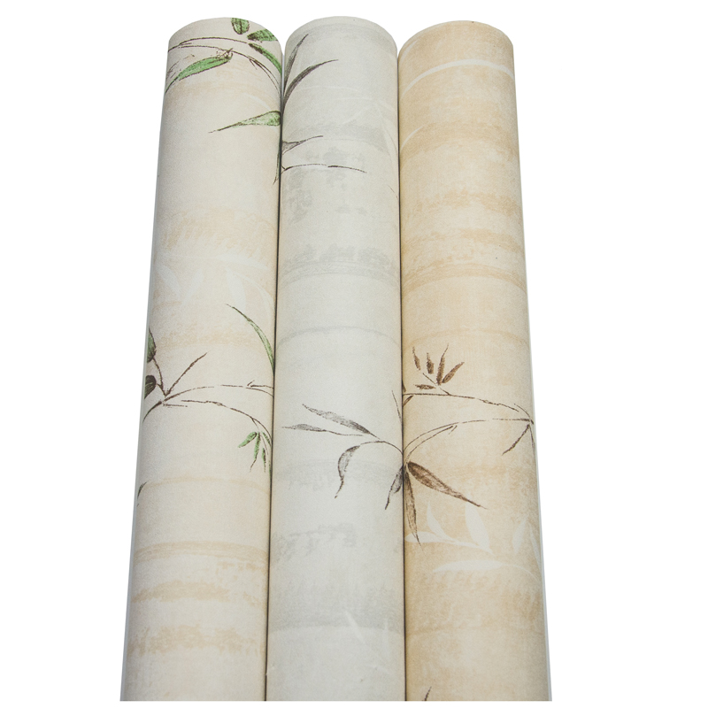 New Chinese Style Bamboo Waterproof Wallpaper Bedroom Living Room Sofa Background Decorative Wallpaper Roll in Wallpapers from Home Improvement