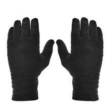 Зимние спортивные теплые флисовые перчатки водонепроницаемые теплые уличные перчатки для мужчин и женщин дышащие черные перчатки для пеших прогулок