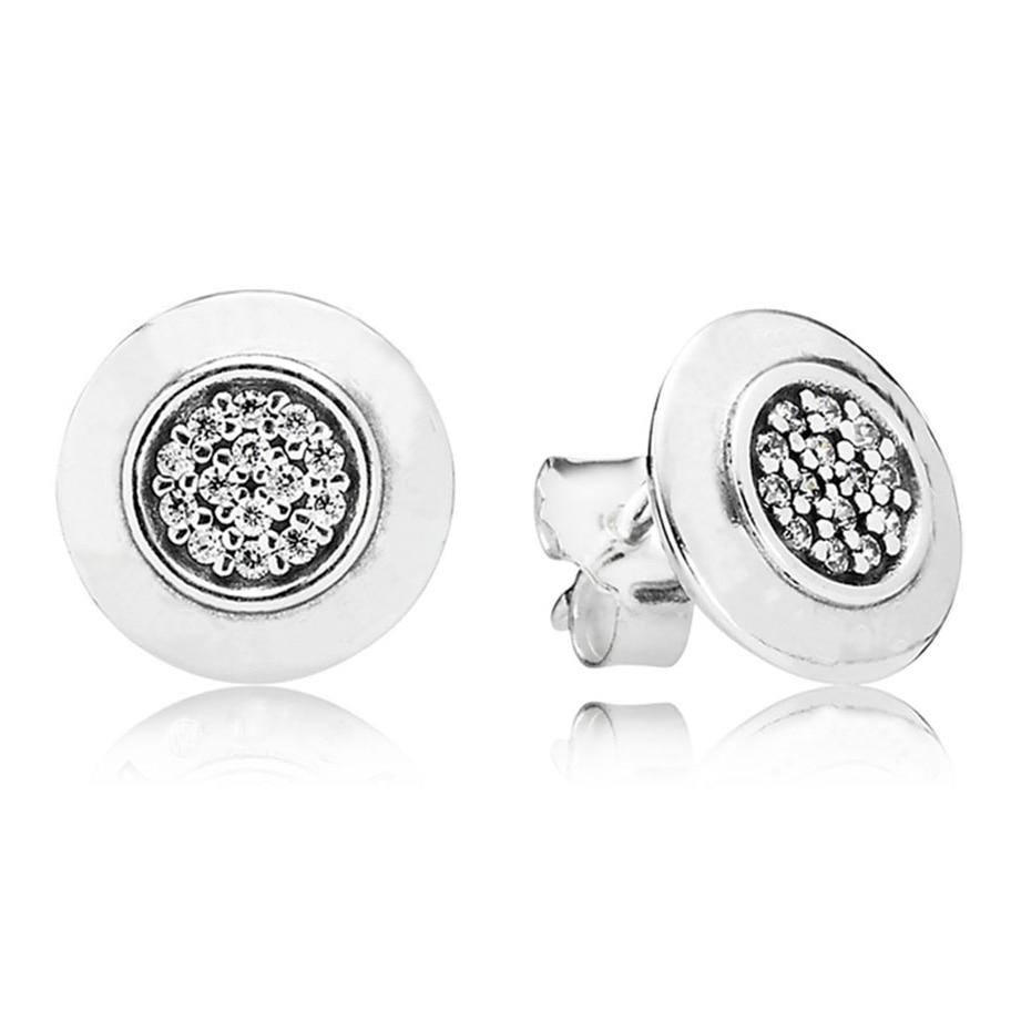 Authentische 925 Sterling Silber Ohrring Unterschrift Mit Kristall Stud Ohrringe Für Frauen Für Frauen Hochzeit Geschenk Feine Europa Schmuck