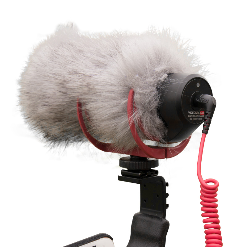 Ulanzi Prefessinal Microphone Windshield Wind Screen Muff Outdoor Furry Fur For RODE VideoMic GO TAKSTAR SGC-598 for Interview