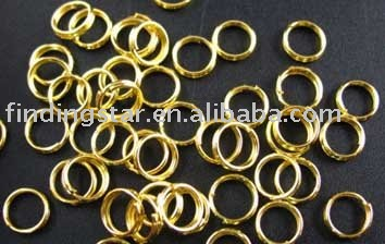 ộ ộ ༽FREE SHIPPING 1000PCS Gold Color plated split rings 8mm M276 ... c962d1158faa
