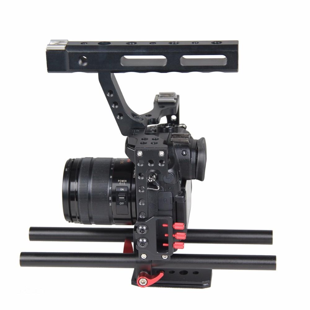 Profesionalus aliuminio DSLR fotoaparato vaizdo kamera su 15 mm - Fotoaparatas ir nuotrauka - Nuotrauka 6