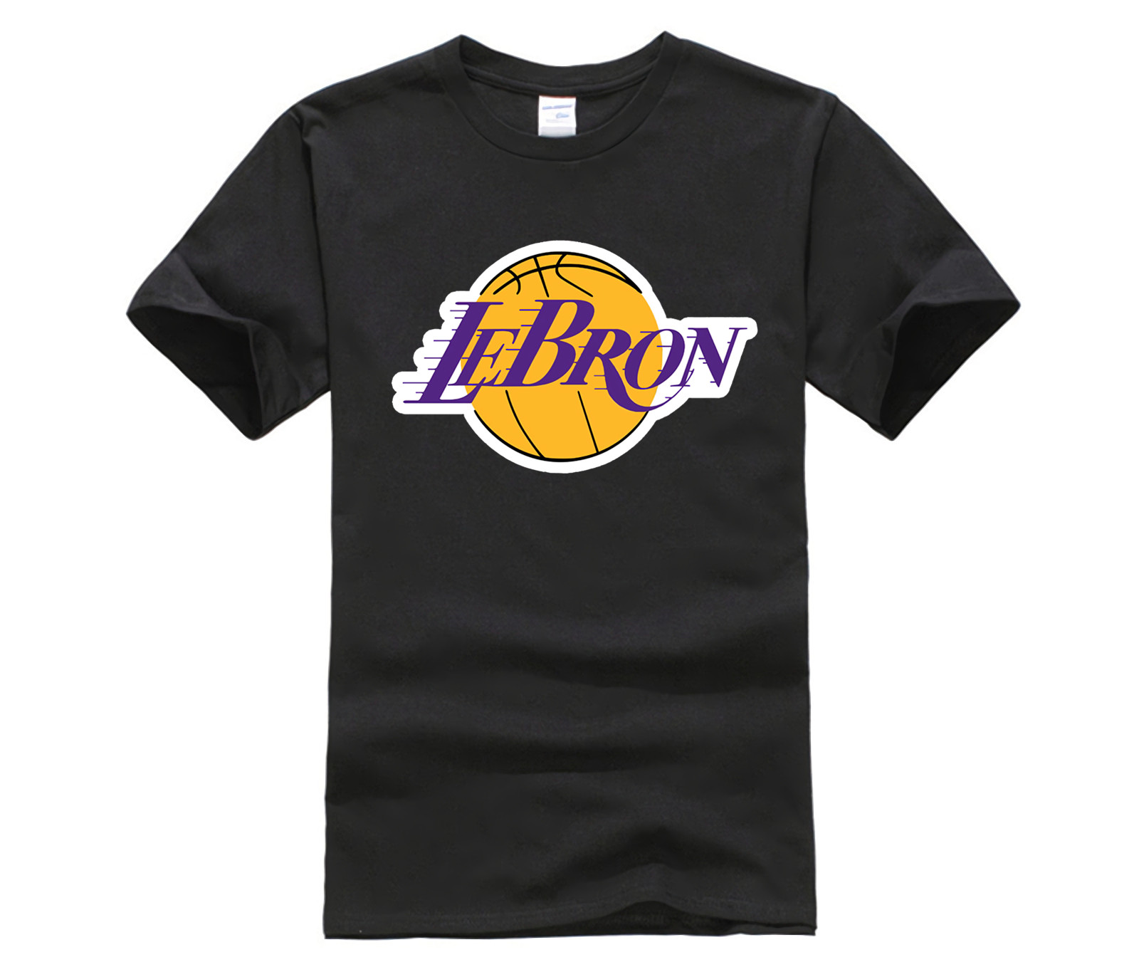 check out 509d9 17230 US $9.5 20% OFF Novelty Lebron James Lakers T Shirt 23 James Man Round  Collar Stylish 3D Print T Shirt Streetwear Homm Tee Shirt Plus Size-in  T-Shirts ...