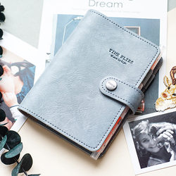 2018 Yiwi A7 PU Leather Loose leaf Planner  Pink Green Black Binder Spiral Vintage Diary  Notebook