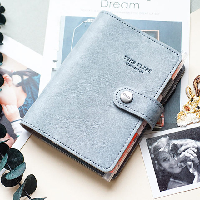 Yiwi A7 PU Leather Loose leaf Planner  Pink Green Black Binder Spiral Vintage Diary  Notebook