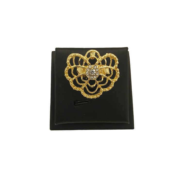 ชุดเครื่องประดับแอฟริกัน 18 GOLD Geometric สร้อยคอผีเสื้อ Golden Art ไนจีเรียเครื่องประดับสำหรับผู้หญิง