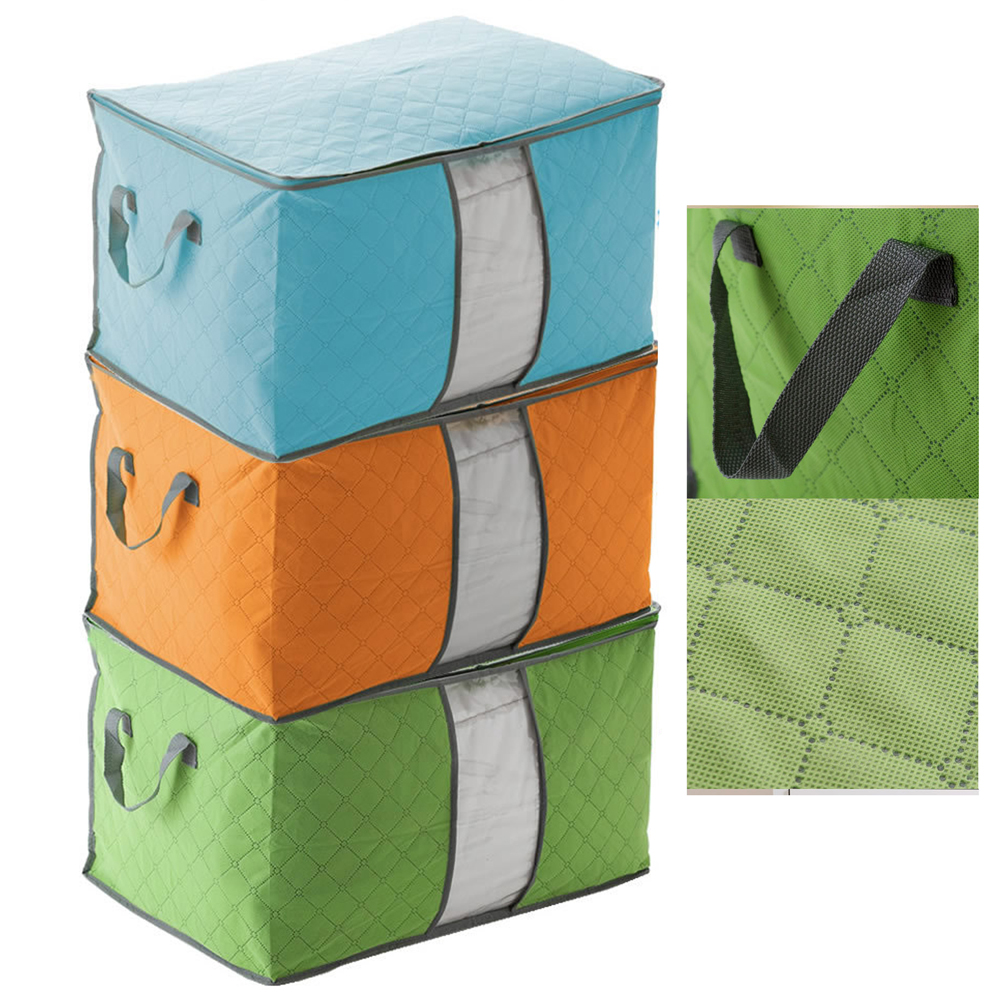 Wardrobe Fabric Foldable Storage Bag Storage Box Case ...