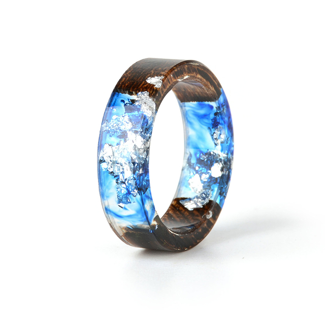 Cool Wedding Rings.Cool Blue Resin Ring Handmade Transparent Finger Ring Men Wedding Rings Mens Jewelry Gift In Wedding Bands From Jewelry Accessories On