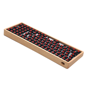 Image 3 - YMDK Hot Swap Fully Programmable 96 Wood Wooden Case Aluminum Plate PCB Stabilizers Support ANSI ISO DIY Kit