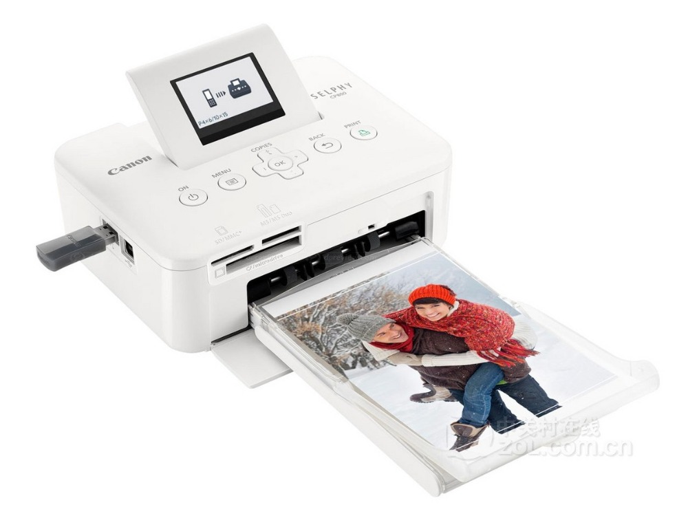 Used Canon SELPHY CP800 Photo Printer 5 Inches Into Carton