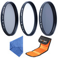 Full Size 52mm, 55mm, 67mm MCUV ND FLD Close Up Full Color Graduated Color Point Star Different Filter Set For Your Choose