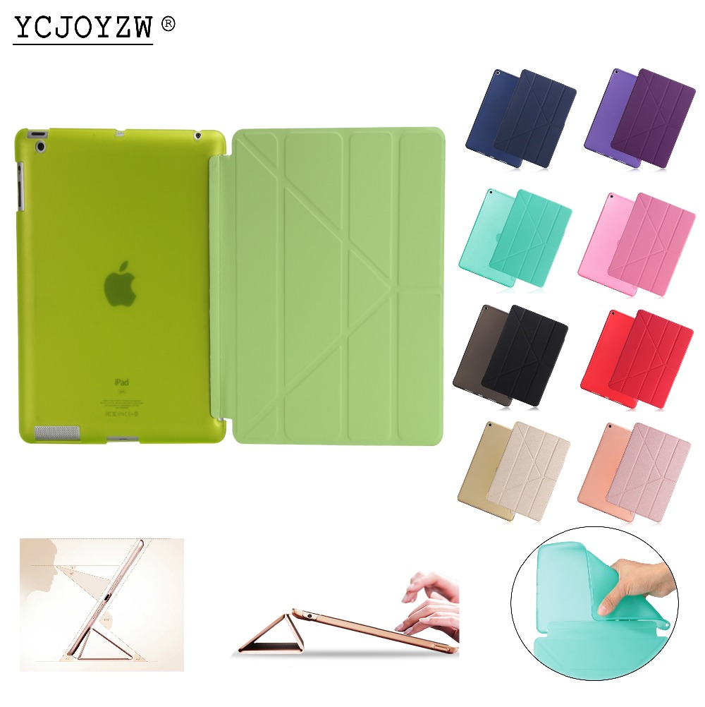все цены на Official Case for Apple ipad 4 3 2 ,YCJOYZW-PU Leather Cover+TPU soft Smart Auto Sleep Surrounded CASE for ipad 2 ipad 3 ipad 4 онлайн