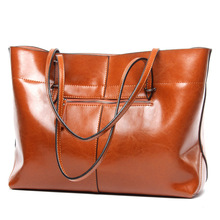 L4002 Wholesale  2017 New European and American Leather Shoulder Bag Leather Shopping Bag Simple and Practical Ladies Handbag