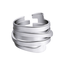 Fashion Women 925 Sterling Silver Open Rings S925 Vintage Multilayer Ring Punk Ring Jewelry Fashion Accessories цены