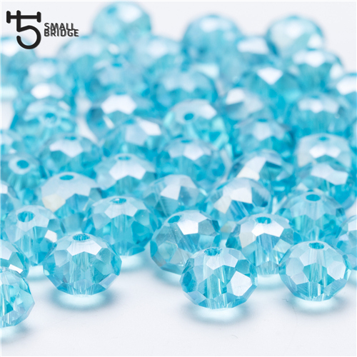 4, 6, 8 мм чешские хрустальные бусины для рукоделия своими руками, цветные граненые стеклянные бусины AB, Z179 - Цвет: Z309AB lake blue