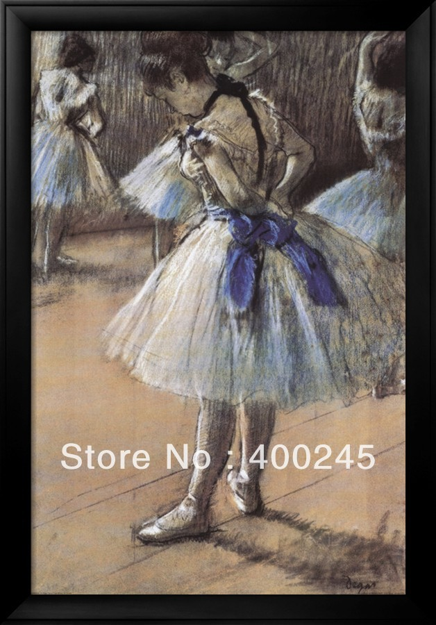 High Quality Hand Painted Edgar Degas Oil Painting Ballerina Dancers