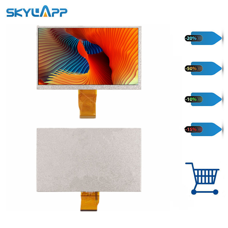 Skylarpu <font><b>7</b></font> <font><b>inch</b></font> for Wexler Book T7003b E-Reader for KR070PA6S FPC-BL70005 V1 <font><b>LCD</b></font> screen <font><b>50</b></font> <font><b>pin</b></font> display panel (without touch) image