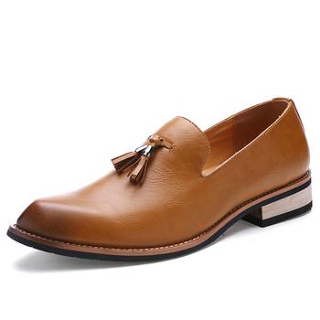 2019 mężczyźni buty wsuwane nowy modne buty wsuwane męskie skórzane buty na co dzień mężczyźni płaskie mokasyny do jazdy wysokiej jakości mężczyźni Penny mokasyny tanie i dobre opinie Dla dorosłych Przypadkowi buty Podstawowe Gumowe Slip-on Skóra Split Oddychająca Masaż 9911 Wiosna jesień Pasuje prawda na wymiar weź swój normalny rozmiar