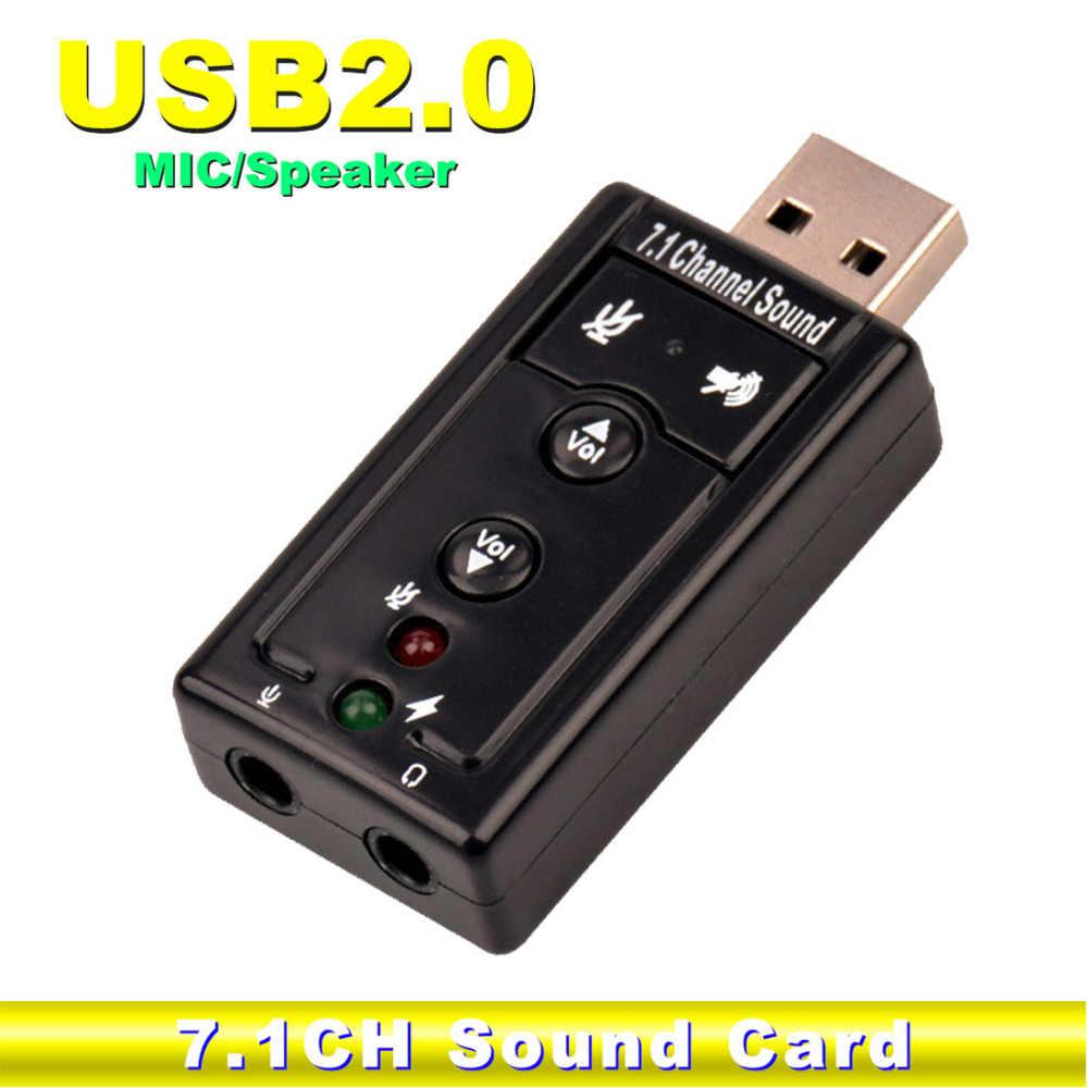 NOYOKERE Внешний USB Аудио Звуковая карта адаптер Виртуальный 7,1 USB 2,0 Mic Динамик Аудио гарнитура микрофон