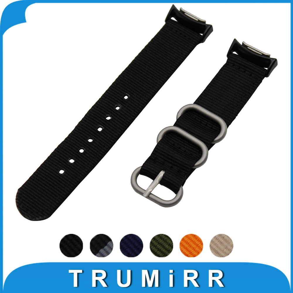 20mm Nylon Watch Band with Adapters for Samsung Gear S2 SM-R720 / R730 Zulu Fabric Strap Wrist Belt Bracelet Black Blue Brown 24mm nylon watchband for suunto traverse watch band zulu strap fabric wrist belt bracelet black blue brown tool spring bars