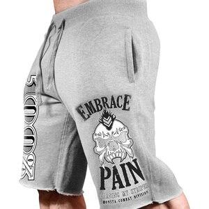 Image 2 - 2019 nuovi uomini palestre Fitness pantaloncini larghi Bodybuilding pantaloni sportivi estivi di alta qualità pantaloni sportivi da uomo casual da spiaggia di marca