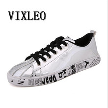 VIXLEO Casual Shoes Couple Canvas Shoes Casual Mixed Color Printed Men Loafers Breathable Superstar Espadrilles Zapallias Hombre