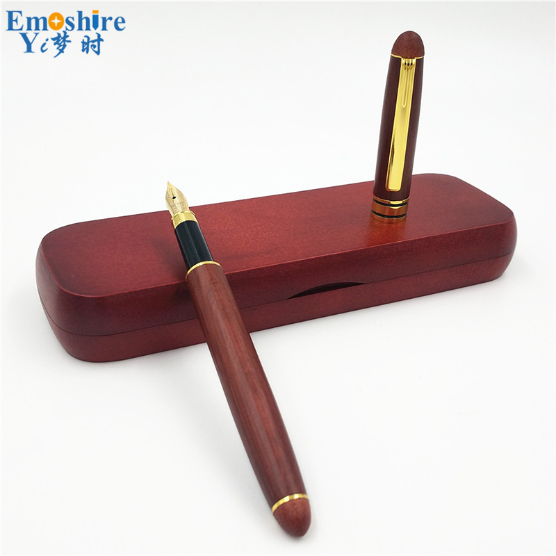 Top Grade Business Gifts For Man Best Roller Ball Pen Wood Ball Point Pen with Wood Pencil Case School Stationery P179 pilot dr grip pure white retractable ball point pen