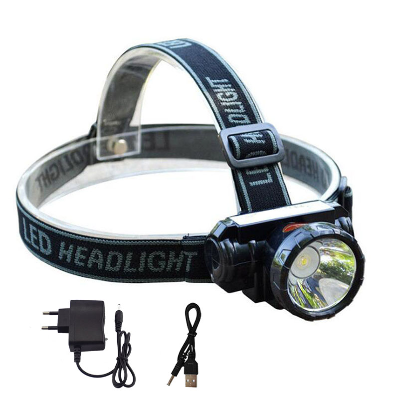 Powerful Led Headlamp Headlight Head Lamp Lampe Rechargeable Super Bright Frontale Light Torch For Night Fishing Hunting Camping цены