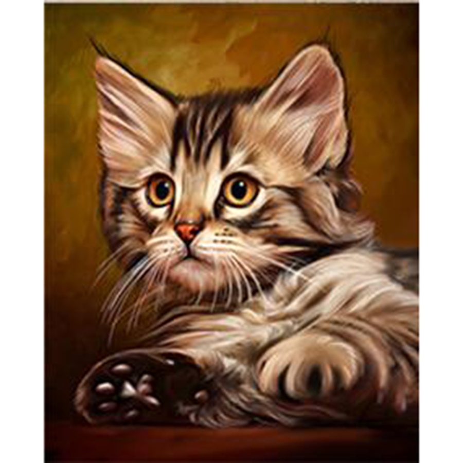 Cat Cash Pattern Diamond Embroidery DIY Needlework Square Diamond Painting Cross Stitch Full Drill Rhinestones Painting ST613