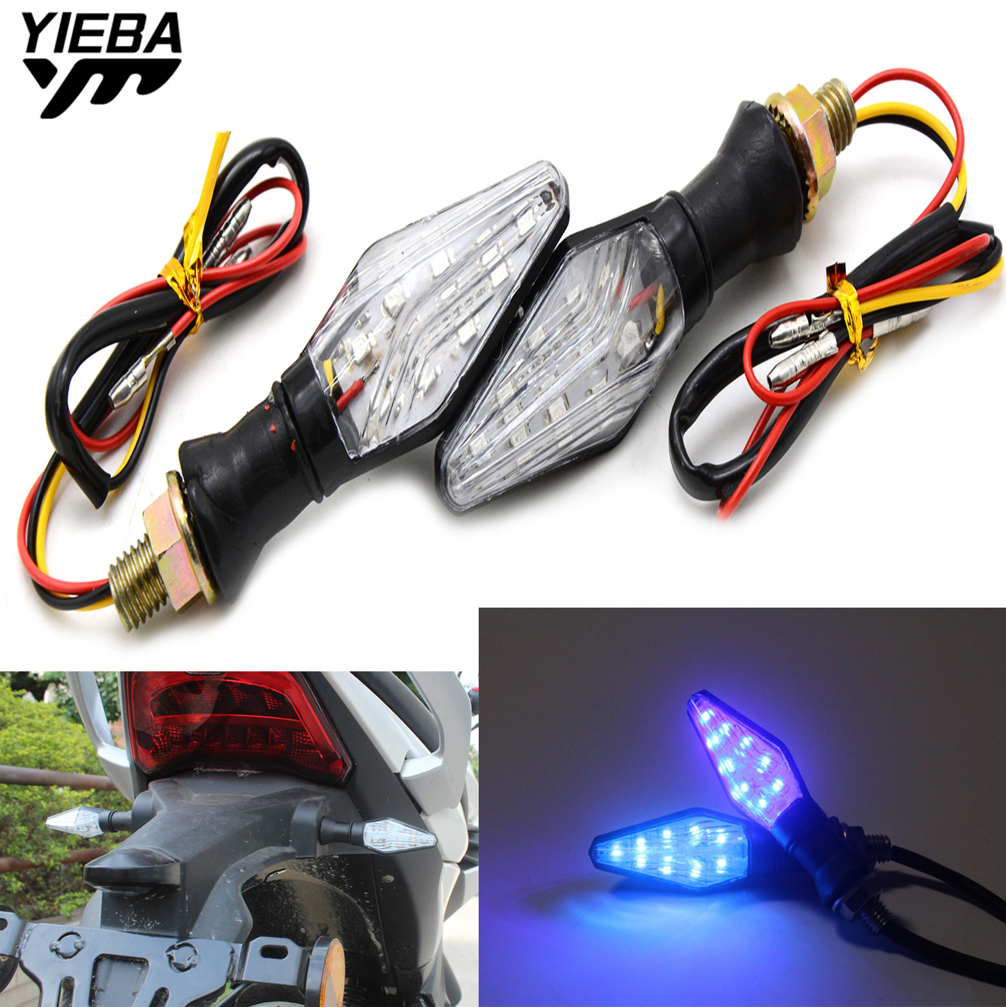 Motorcycle Accessories Light LED Turn Signal Light/Lamp For <font><b>SUZUKI</b></font> <font><b>GSXR1000</b></font> <font><b>K7</b></font> GSXR 1000 GSX R1000 GSXR-1000 B-KING SV650/S MT07 image