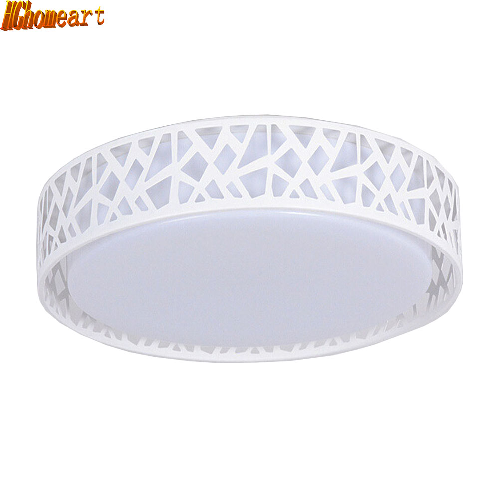 LED Modern Ceiling Light Creative Round White Living Room Lamp 110v-220v Bedroom Lighting Stylish Apartments Ceiling Lamps vemma acrylic minimalist modern led ceiling lamps kitchen bathroom bedroom balcony corridor lamp lighting study
