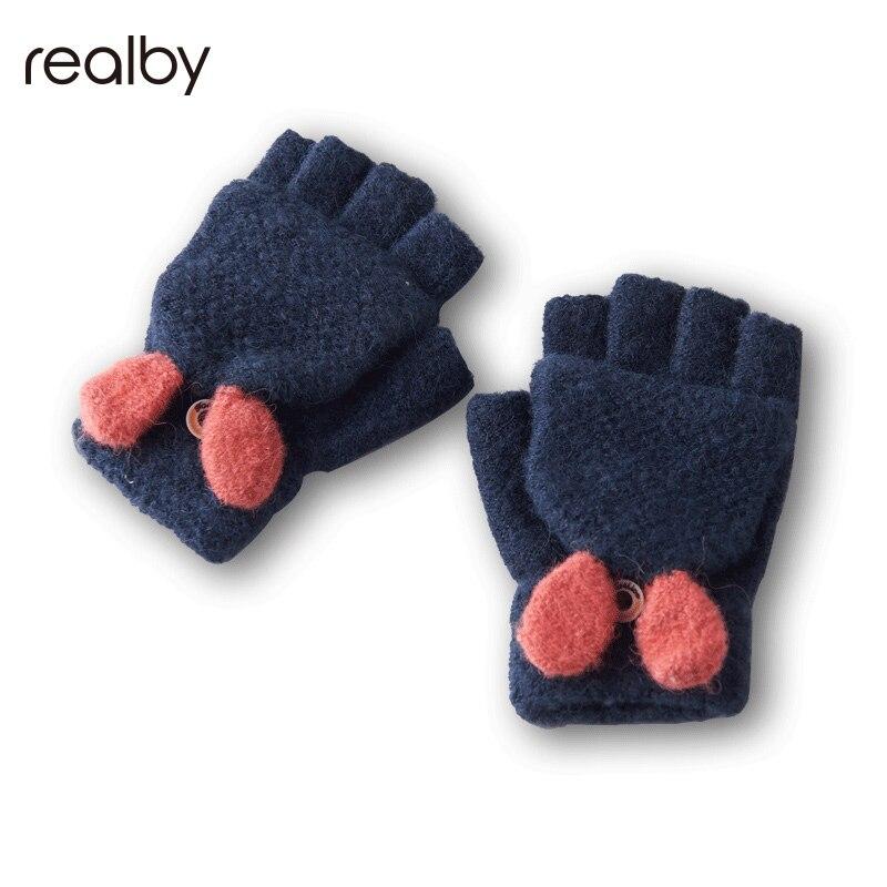 Mutter & Kinder UnabhäNgig Niedlichen Kind Handschuhe Weibliche Winter Ausgesetzt Finger Abgedeckt Mit Warme Wolle Handschuhe Winterhandschuhe Kinder C3100 Accessoires