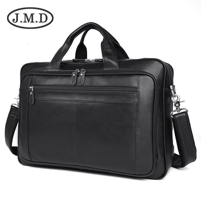 New Messenger Bag Men's shoulder bag Genuine leather Male man Briefcases laptop big Men's Travel Bags for men handbags