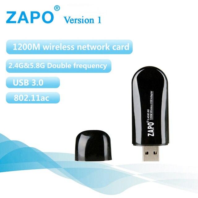 Super USB 3.0 Wifi Adapter Receiver Wireless Network Card AC 1200Mbps 802.11 a/b/n/g/ac 2.4GHz 5GHz Dual Band for Laptop Desktop