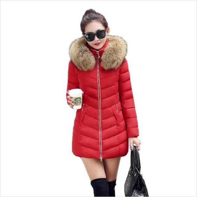 2017 Fashion Women coat womens Down jacket New warm Autumn Winter jacket women thick hoody  slim women parka warm winter coat