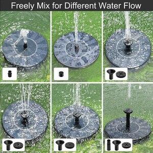 Image 4 - Bomba de agua con forma redonda, Fuente Solar flotante para exteriores, fuente para baño de aves, Bomba de piscina para decoración de estanque y jardín