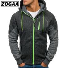 ZOGAA Men's Casual Sportswear Color Block Fashion Hooded Sweatshirt Men Clothing 2019 Brand New Zipper Jackets Harajuku Hoodies plus color block sweatshirt