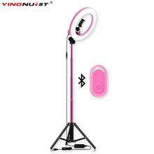 LED Ring Light Battery Ring Lamp Light Photography lighting for YouTube Video Studio Makeup Selfie Lighting yidoblo pink fd 480ii studio ring light 480 led video light digital lamp photographic day lighting light standing ma 280cm