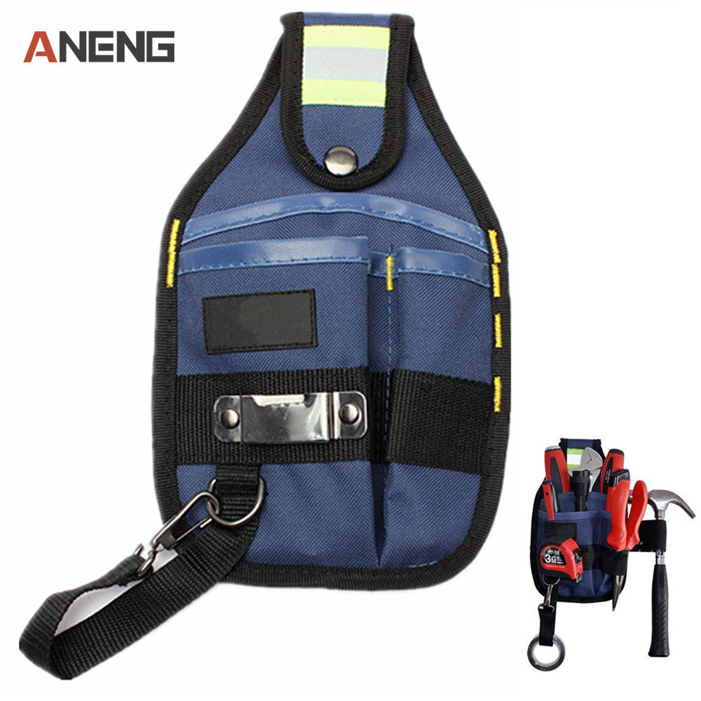 Strong Oxford Cloth Tool Bag 3-Pocket Thicken Design Wear Electrician Wide Tool Belt Holder Kit Pockets Belt Pouch Conveniet Too