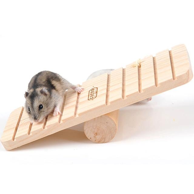 Древесина Маленький Кролик Животных Хомяка Качели, Песчанка Крыса Мышь Деревянные Игрушки 19*7*4 см, Хомяк Игрушки