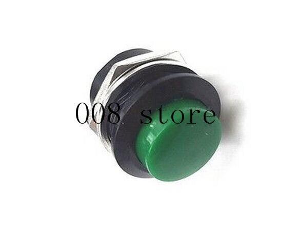 6 шт. 16 мм самовозвратный Мгновенный кнопочный переключатель 6A/125VAC 3A/250VAC R13-507 - Цвет: green