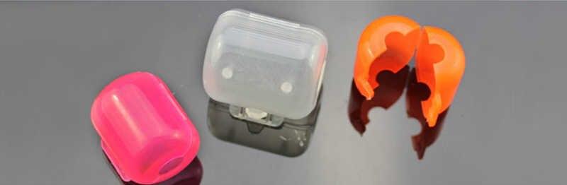 20 Pcs/Bag Plastik Penutup Payung Kait Kayu Udang Squid Jigs Kait Kotak 4 Ukuran Aksesoris Memancing Warna Acak