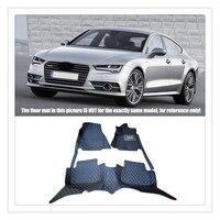 LHD RHD Custom Car Floor Mats For Audi A7 4G 2012 2013 2014 2015 2016 Auto