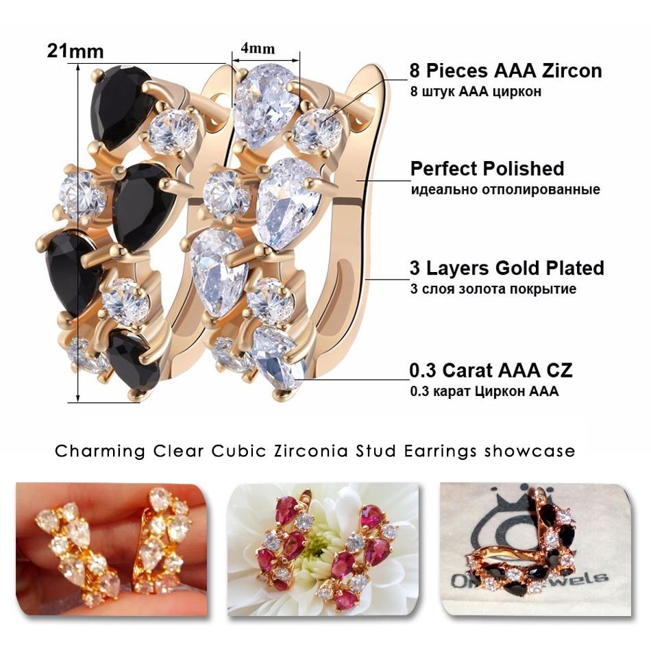 ORSA JEWELS Luksus 4 Stykker 0,3 karat Charmerende klare Cubic - Mode smykker - Foto 2