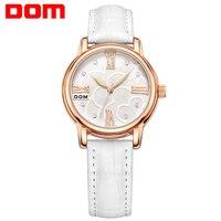 Watch Women DOM Brand Luxury Fashion Casual Lady Wrist Watches Leather Waterproof Quartz Stylish Relogio Feminino