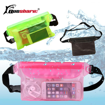 Waterproof Swimming Bag Dry Pack Waist Pouch Dry Bum Bag PVC Waist Phone Cover Money Storage Protective Rowing Boat Drifting Bag