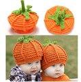 Infant Toddler Funny Cartoon Pumkin hat  Crochet Warm Boy Cap Halloween Hat Baby girls boys beanie Photo Props free shipping