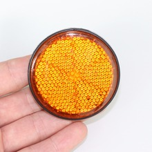 Decorative Round Reflective Plate  Reflectors for Motorcycle Bicycle Moped