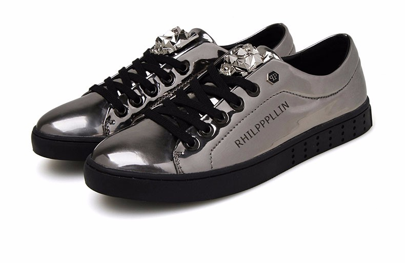 KUYUPP 2016 High Quality PU Patent Leather Men Flats Shoes Leopard Head Sequined Skate Shoes Round Toe Lace Up Men Flat Heel Y31 (34)